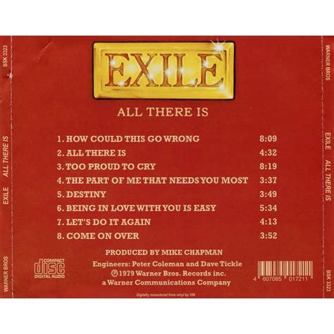 All There Is all there is exile cd 売り手 solarfire id 119127270