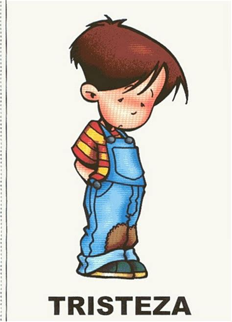 imagenes de tristeza en caricatura fichas de emociones 2 tristeza lengua de signos espa 241 ola