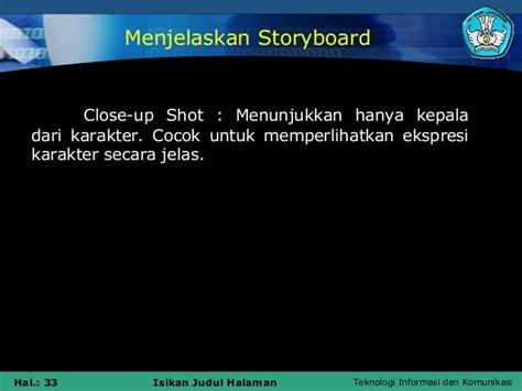 membuat storyboard cd interaktif membuat storyboard