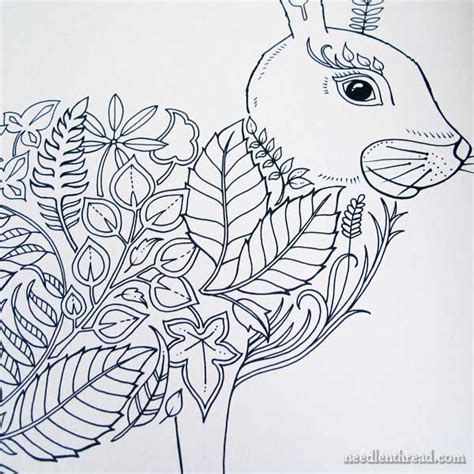 Embroidery Design Inspiration from Coloring Books