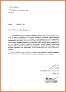 Business Letter Of Recommendation 8 Letter Of Recommendation For A Company Company Letterhead