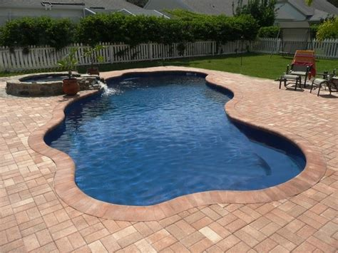 swimming pool pavers fiberglass with brick coping and pavers swimming pools