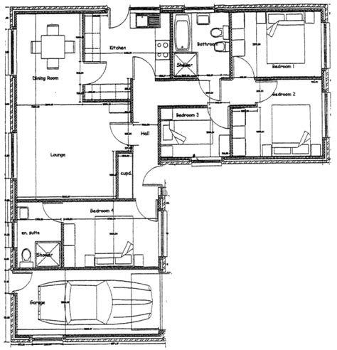 floor plan 4 bedroom bungalow two bedroom cottage 2 bedroom bungalow floor plan 4