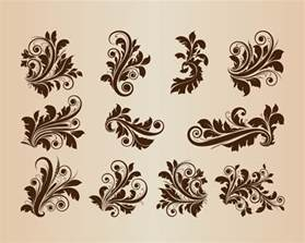 antique design collection of vector vintage floral design ornament elements free vector graphics all free