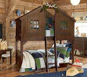 Bunk Bed Tree House Rustic Handmade Tree House Bunk Bed Solid Wood By Rusticdeals