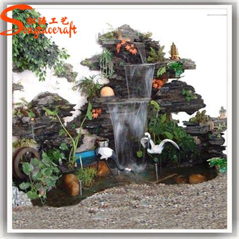 china water factory indoor artificial waterfall
