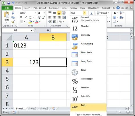 html format number leading zero keep leading zeros in numbers in excel 2 ways