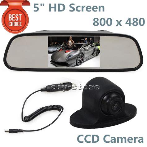 Monitor Rear View Parkir Mobil Tft Lcd 5 Inch 5 quot inch hd tft lcd layar monitor mobil kaca spion monitor ccd cadangan belakang depan