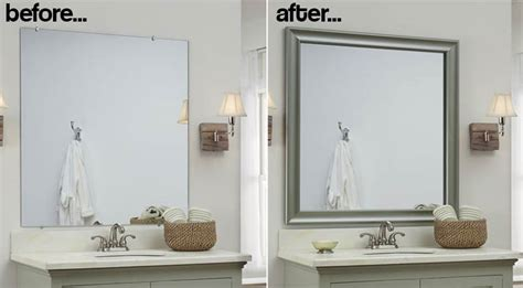 how to make a bathroom mirror frame bathroom mirror frames 2 easy to install sources a diy