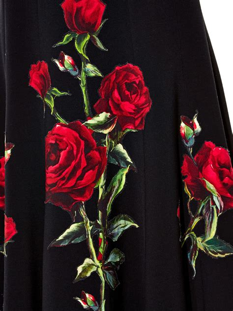 Dg Dolce And Gabbana Flash Collection Knit And Leather Shopper by Lyst Dolce Gabbana Print Midi Skirt In Black