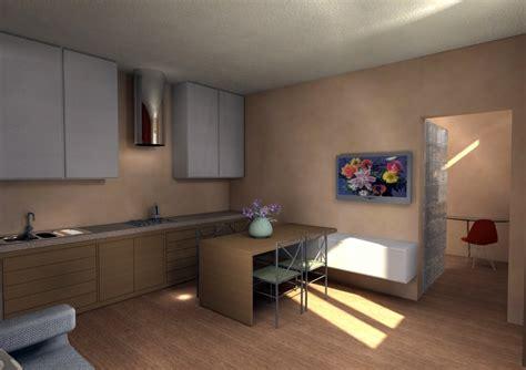 soggiorno con cucina a vista progetto ristrutturazione bilocale idee ristrutturazione