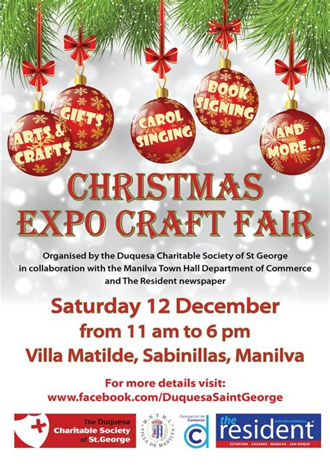 charitable christmas crafts charity craft fair in sabinillas