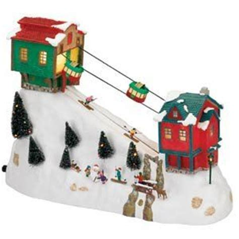 animated ski lift decoration ski lift cable and breathe in on