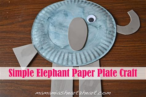 Elephant Paper Plate Craft - simple elephant paper plate craft preschool activities