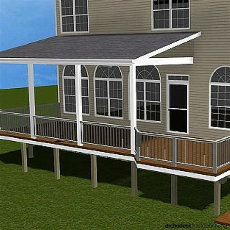 Adding Shed Roof Deck - when covering your porch or deck there are three typical