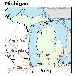 Niles Michigan Map by Best Places To Live In Niles Michigan