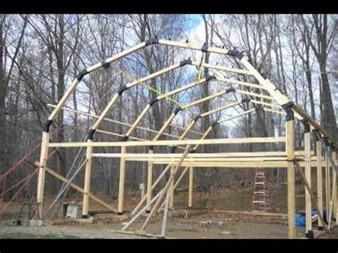 build a garage, workshop, pole barn, house youtube