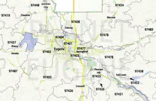 maps eugene oregon oregon zip code map