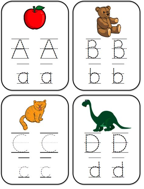 printable letter cards for tracing bright ideas for early learning abc tracing cards