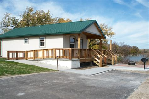 Kansas State Park Cabins by Gallery Historic Lake Locations State