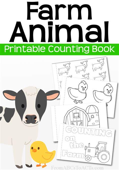 printable animal books kindergarten printable farm animal counting book early math early