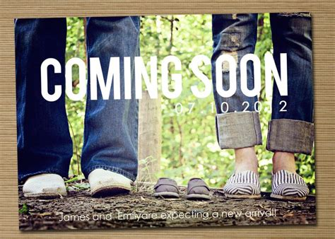 pregnancy announcement printable coming soon photo