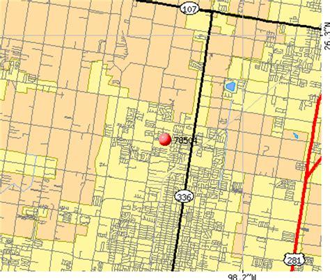 mcallen texas zip code map zip code mcallen texas map