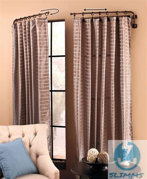 curtain rods that swing open french door 187 french door curtain rods inspiring photos