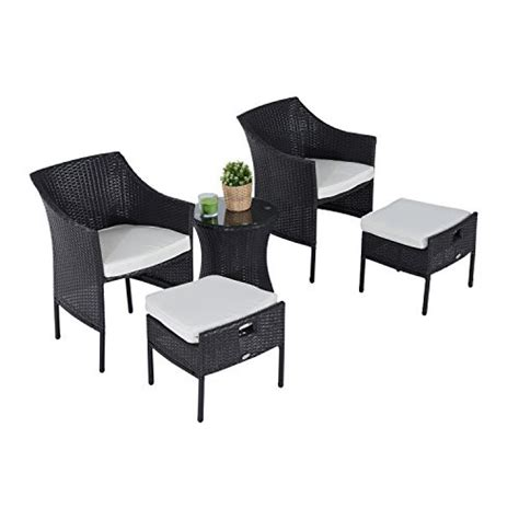 patio chair with nesting ottoman outsunny outdoor patio rattan wicker leisure chair set w