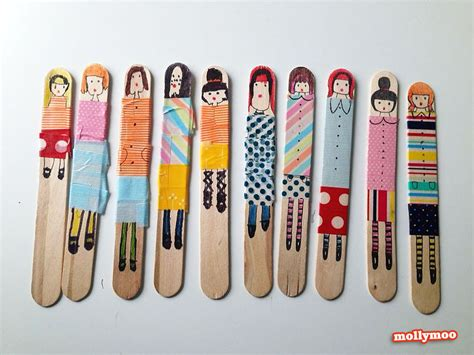 with craft sticks mollymoocrafts craft craft stick dolls