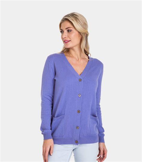 V Neck Cotton Cardigan alpine blue 10 90 cotton womens