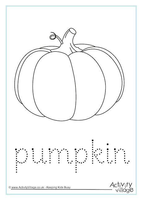 printable tracing pumpkins pumpkin word tracing
