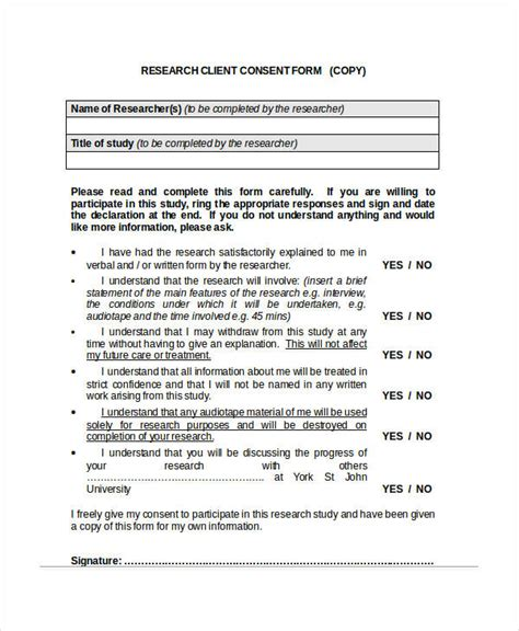 client consent form template 34 consent forms in doc