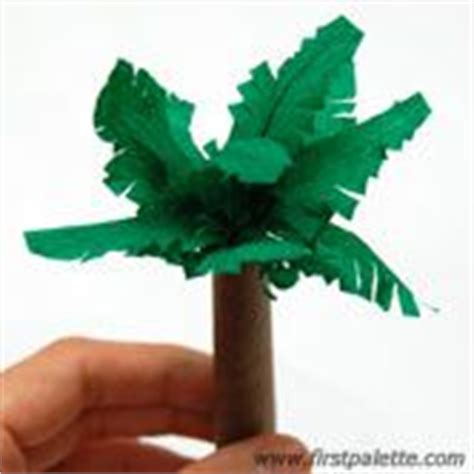 How To Make A Paper Palm Tree - step 4 paper palm tree diorama trees