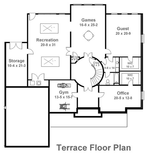 terrace floor plans latrobe 6003 4 bedrooms and 3 baths the house designers