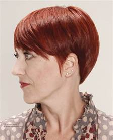 hair color and a rounded hairstyle for