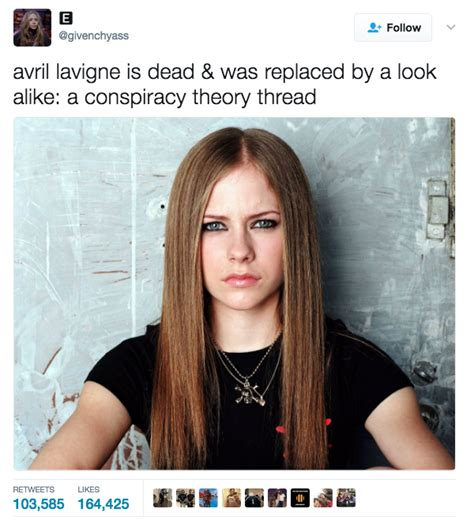 Avril Lavigne Meme - avril lavigne is dead conspiracy know your meme