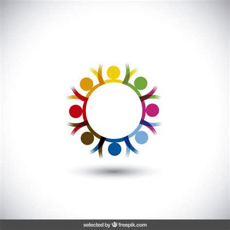 colorful circle logo colorful circular logo vector free