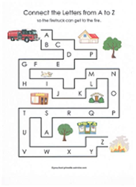 printable fire truck maze mazes for kids