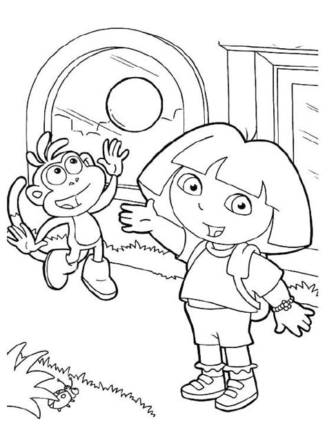 coloring pictures of dora and boots 166 best dora coloring pages images on pinterest dora