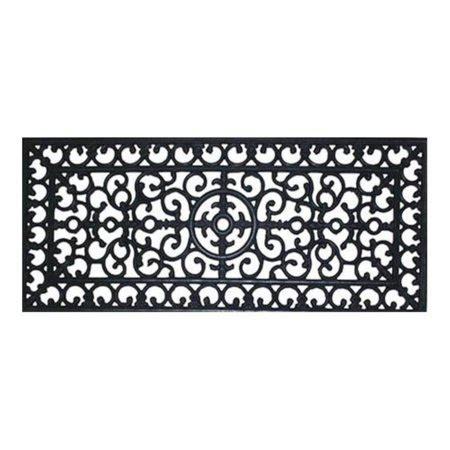 Fleur De Lis Doormat by Renaissance Fleur De Lis Door Mat 17x41 Walmart