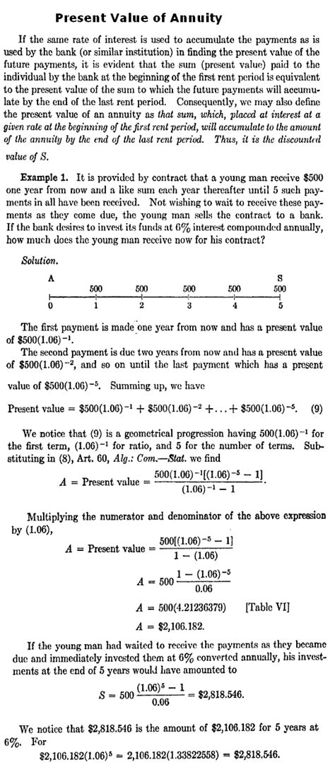how do you calculate a present value of annuity using excel