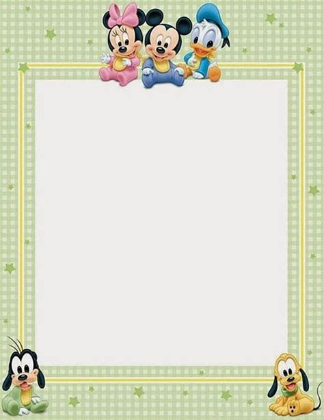 printable baby stationery new baby disney characters letterhead printable stationery