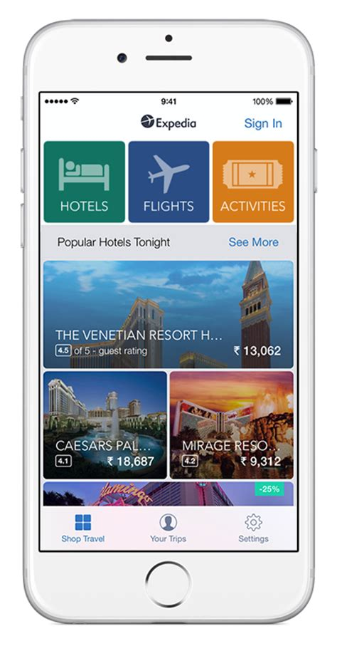 best booking app an iphone showing expedia app