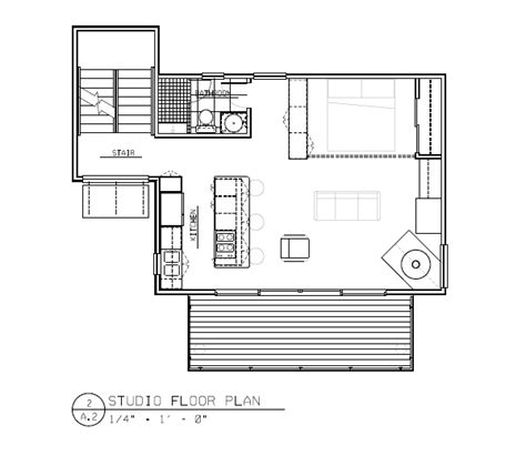 modern studio house plan in rhode island by
