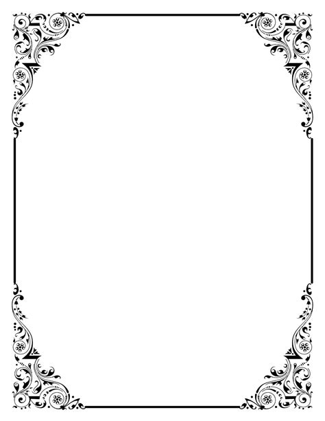 vintage frame templates for photoshop photoshop clipart classic border pencil and in color