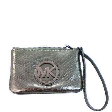 snap n zip fashion accessories michael michael kors fulton wristlet gunmetal