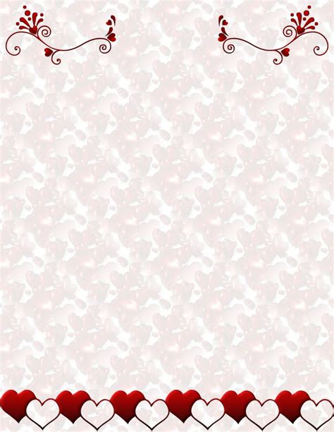 free printable valentine stationary borders 96 best valentines stationery images on pinterest
