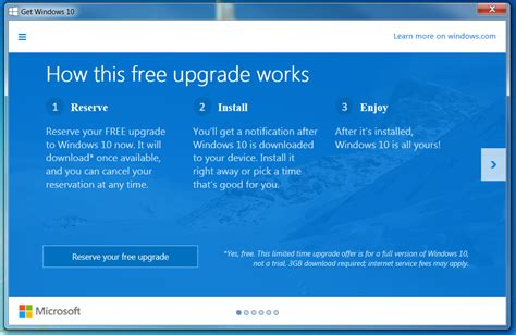 how to reserve windows 10 reserve your free copy of windows 10 right now