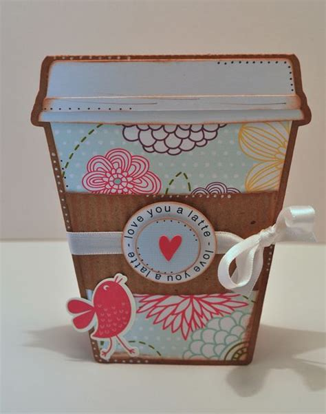 Coffee Cup Gift Card Holder Template - the cutting cafe coffee cup shaped card